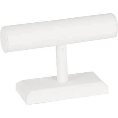 Jewelry T-Bar White Leatherette 7