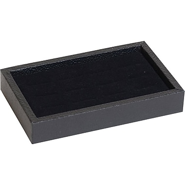 Tray w/ Ring Insert, 12 Slot Black