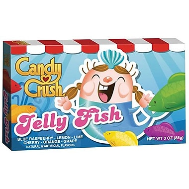 Candy Crush Jelly Fish Soft Fruit Candy, 3 oz., 12/Pack