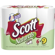 Scott® Naturals Choose-A-Size™ Mega Roll Paper Towels, 1-Ply, 6 Rolls/Pack