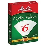 Melitta Coffee Filters, Cone Style #6, 40/Pack