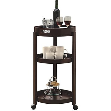 Monarch Home Bar Cart With A Serving Tray On Castors, Cappuccino