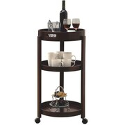 Monarch Bar Cart With A Serving Tray On Castors, Cappuccino
