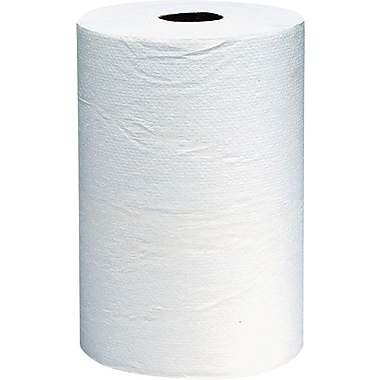 Scott Hardwound Paper Towel Rolls, White, 1-ply, 12 Rolls/Case