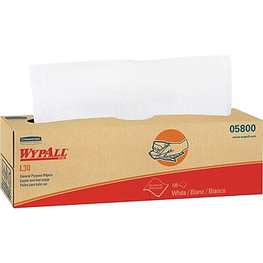 Kimberly-Clark WypAll L30 Wipers in a Pop Up Box, 8 Packs/Case