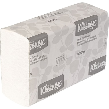 Kleenex® Multifold Paper Towels, White, 1-Ply, 2,400/Case