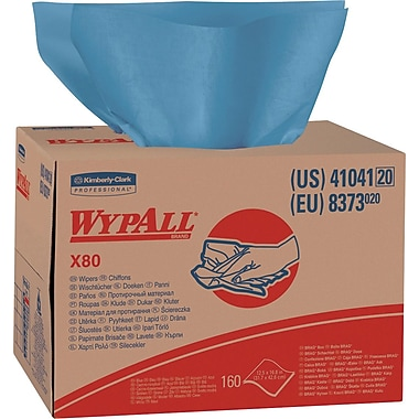 Kimberly-Clark® WypAll® X80 Wipers, 160/Box