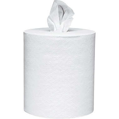 Scott® Center-Pull Paper Towel, White, 1-Ply, 6 Rolls/Case