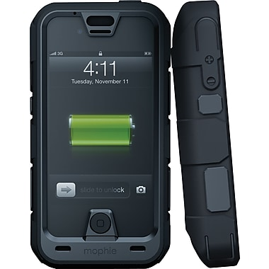Mophie Juice Pack® Pro Rechargeable iPhone 4/4S Battery Case, Black (2120JPPRIP4)