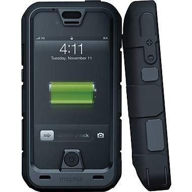 MophieMD – Étui à pile rechargeable pour iPhone 4/4s Juice Pack (2120JPPRIP4), noir métallique