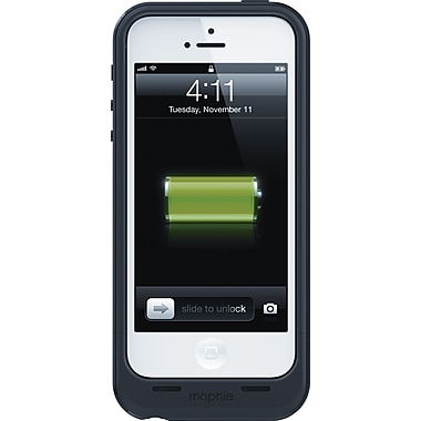 Mophie Juice Pack® Plus Rechargeable iPhone 5 Battery Case, Black (2110JPPIP5BK)