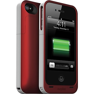 Mophie Juice Pack® Plus Rechargeable iPhone 4/4S Battery Case, Product Red (1207JPPIP4)