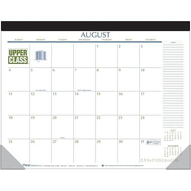 2014/2015 Upper Class® Desk Pad Calendar, 21 3/4in. x 17 in.