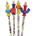 DesignWay #2 Pencils with Fidgets, Assorted, 4/Pack