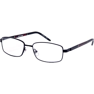 Foster Grant® Classic Men's Full Rim Black Reading Glasses, Black, 2.50 Diopter