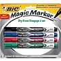 Bic Magic Marker Dry-Erase Markers, Pocket Style, Assorted