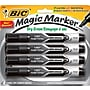 Bic Magic Marker Dry-Erase Markers, Tank Style, Black,
