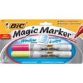 BIC® Magic Marker® Window Markers, Tank Style, Yellow and Pink, 2/Pack