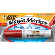 BIC® Magic Marker® Window Marker, Jumbo Chisel Tip, Red, Each