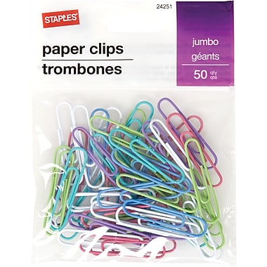 Staples® Jumbo Paperclip 50 PK - Fashion