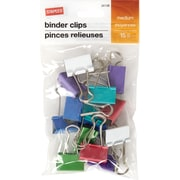 Staples® Binder Clip Med 15 PK Assorted - Fashion