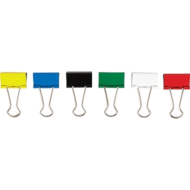 Staples® Binder Clip Med 15 PK Assorted