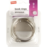 "Staples® Loose-Leaf Rings, 2"" Size, Silver"