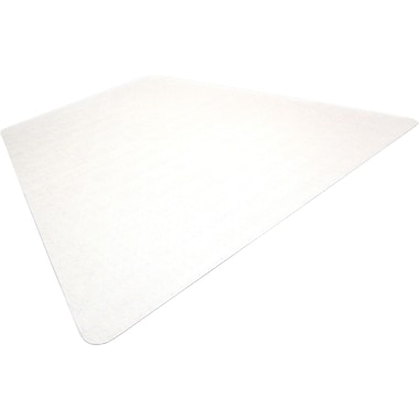 Floortex ClearTex Ultimat Clear Polycarbonate Chair Mats For Hard Floors, Trapezoid, 48in.x60in.