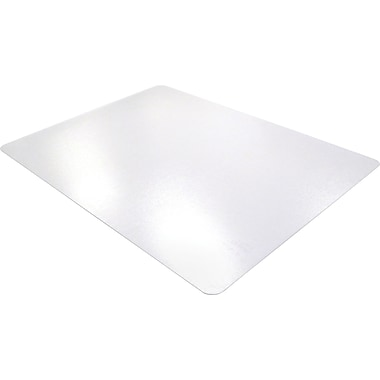 Floortex ClearTex Ultimat Clear Polycarbonate Chair Mats For Hard Floors, Rectangle, 48in.x60in.