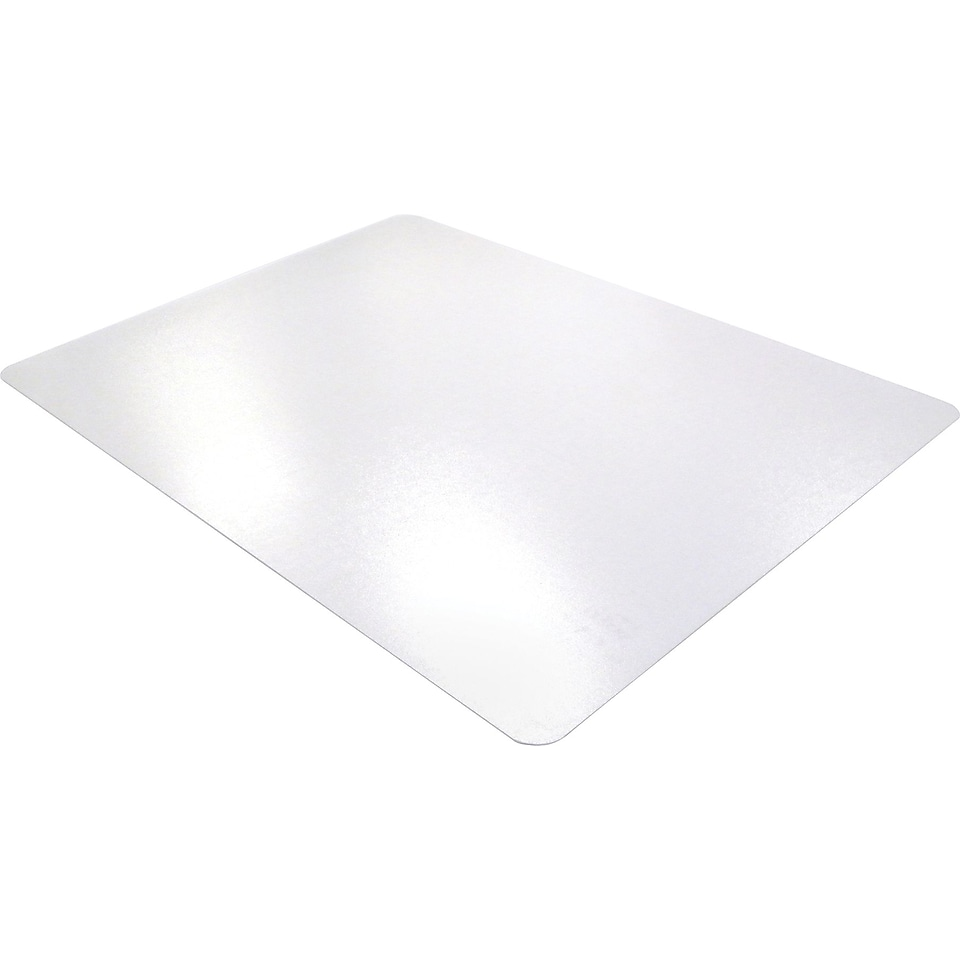 Floortex ClearTex Ultimat Clear Polycarbonate Chair Mats For Hard Floors, Rectangle, 48x60