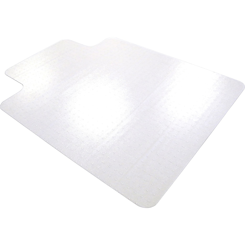 Floortex ClearTex Ultimat Polycarbonate Chair Mat for Plush Carpet, with lip, 48x53