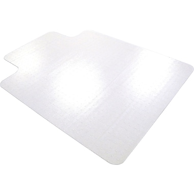 Staples Hard Floor Chair Mats, Lip, 45in. x 53in.