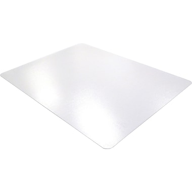Floortex Polycarbonate 60''x60'' Polycarbonate Chair Mat for Carpet & Hard Floor, Rectangular (1215015019ER)