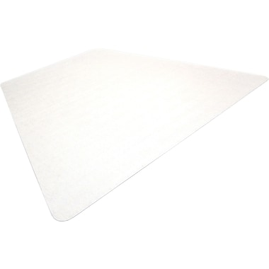 Floortex Polycarbonate Chair Mat for Carpet, Triangular, 48in. x 60in.