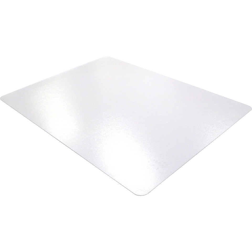 Cleartex Ultimat Polycarbonate Rectangular Chairmat for Hard Floors (48 X 53)