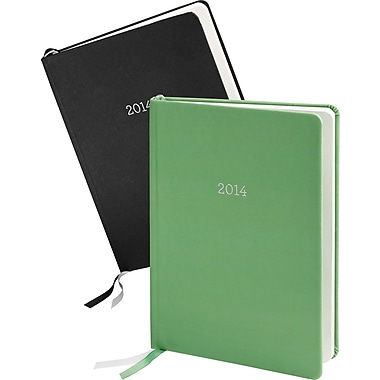 Martha Stewart Home Office™ with Avery™ 2014 Perfect-Bound Planning Calendar, Black and Green, Desktop, 6-7/8in. x 9-3/16in.