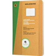 """Moleskine Evernote Journal with Smart Stickers, Large, Ruled, Kraft, Soft Cover, 5"""" x 8-1/4"""", Set of 2"""