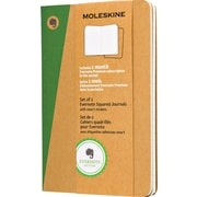 "Moleskine Evernote Pocket Soft Cover Journals with Smart Stickers, Square Ruled, 3-1/2"" x 5-1/2"", 2/Pack"
