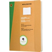 "Moleskine Evernote Journal with Smart Stickers, Extra Large, Squared, Kraft, Soft Cover, 7-1/2"" x 9-3/4"", Set of 2"