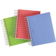 Staples® Durable Poly Cover Notebook, Assorted Patterns, 3-1/2 x 5-1/2