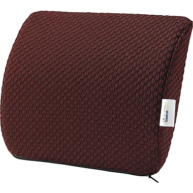 Tempur-pedic® Travel Lumbar Cushion with Fabric Cover, Burgundy