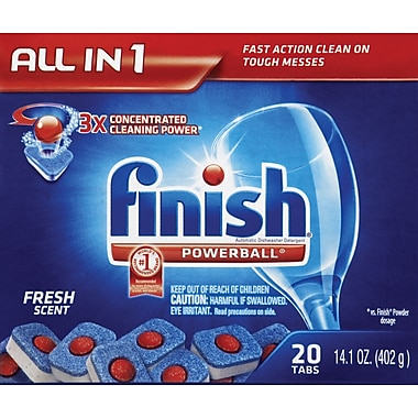 Finish Powerball Dishwasher Tablets, 20/Pack