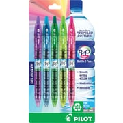 Pilot B2P Bottle-2-Pen Colors Retractable Gel Ink Pens, Fine Point, Assorted, 5/Pack (36621)