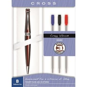 Cross Vienna Ballpoint Pen with Red Barrel/Chrome Accents & Refill Gift Set, Each