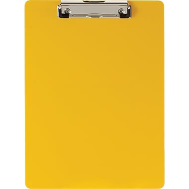 Officemate® Recycled Plastic Clipboard, Letter, Yellow, 9in. x 12 1/2in.