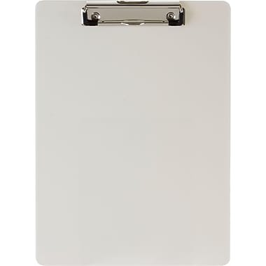 OIC® Plastic Clipboard, Letter, Yellow Opaque, 8 1/2