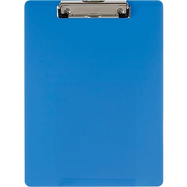 OIC® Recycled Plastic Clipboard, Letter, Ice Blue, 8 1/2in. x 12in.