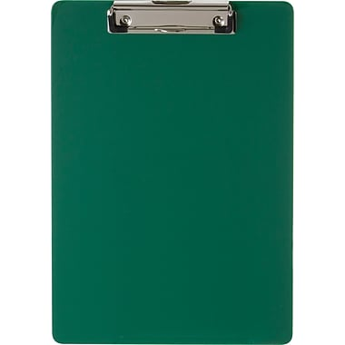 OIC® Plastic Antimicrobial Clipboard, Letter, Green Opaque, 8 1/2in. x 12in.