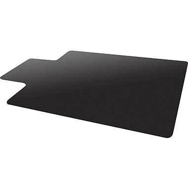 Deflecto Blackmat Hard Floor Vinyl Chair Mat NonStudded, Wide Lip, 45