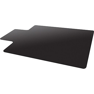 chair mat for hard floor rectangular w lip black cm21112blkcom
